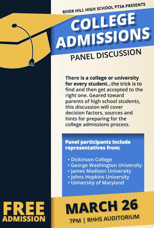 Image result for college admissions panel poster