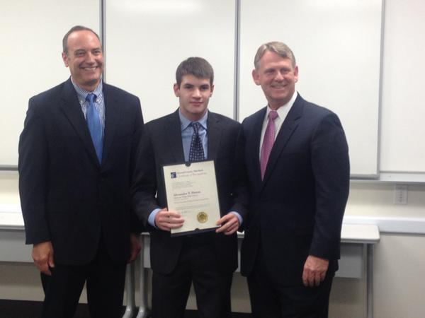 Congratulations to Alexander Hanon. He is the recipient of the 2015 Political Science award.